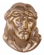 Head of Jesus 13 x 10 cm goldfarben