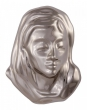 Head of Maria 12 x 9,5 cm silberfarben