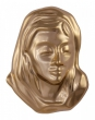 Head of Maria 12 x 9,5 cm goldfarben